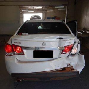 crashed rear